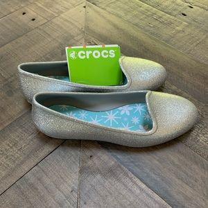 Crocs   Sparkle Flats Silver